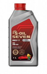 Моторное масло S-Oil Seven RED7 SN 5W-30 (1 л.) E107662