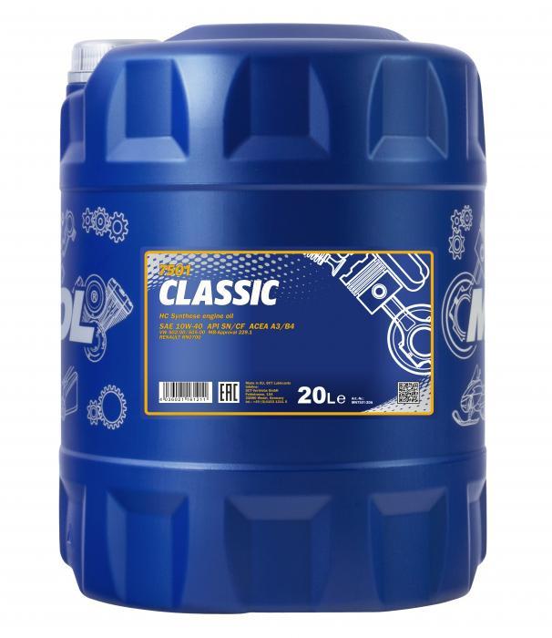 Моторное масло Mannol 7501 Classic 10W-40 (20 л.) 1185