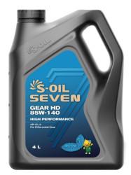 Трансмиссионное масло S-oil SEVEN Gear HD 85W-140 GL-5 (4 л.) E107797