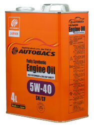 Моторное масло Autobacs Fully Synthetic 5W-40 (4 л.) A01508404