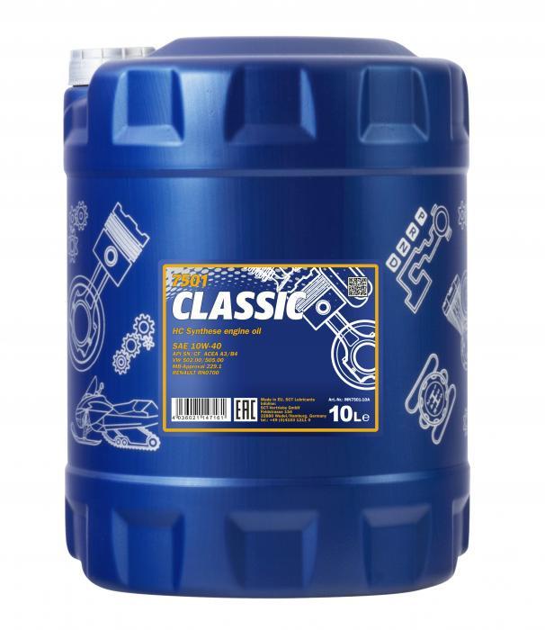 Моторное масло Mannol 7501 Classic 10W-40 (10 л.) 1279