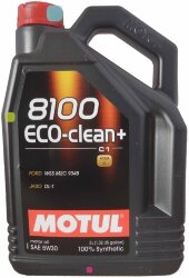 Моторное масло Motul 8100 Eco-Clean+ C1 5W-30 (5 л.) 101584