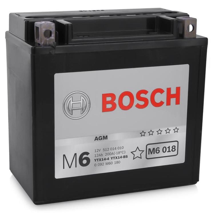Аккумулятор Bosch M6 12V 12Ah 100A 152x88x147 п.п. (+-) 0092M60180