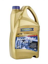Трансмиссионное масло Ravenol ATF Matic Fluid Type D (4 л.) 1211121004