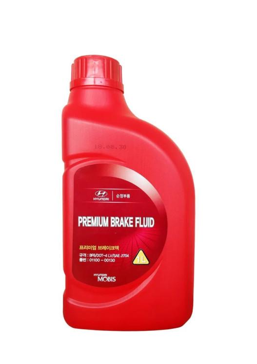 Тормозная жидкость Hyundai (Kia) Premium Brake Fluid DOT 4 (1 л.) 01100-00130