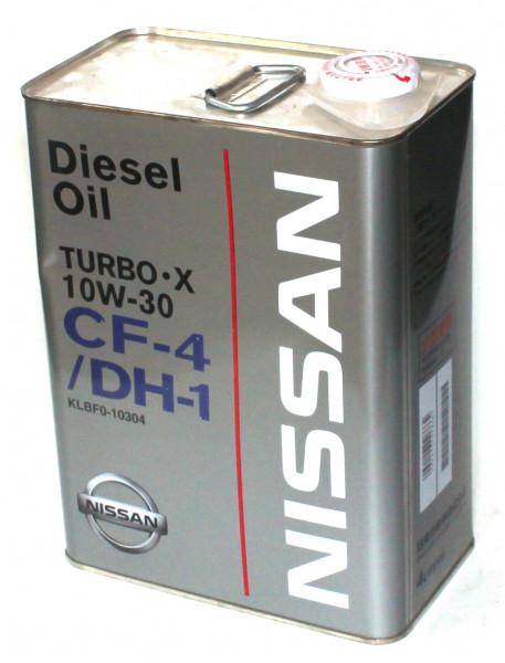 Моторное масло Nissan Diesel Oil Turbo X 10W-30 (4 л.) KLBF0-10304