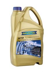 Трансмиссионное масло Ravenol ATF ATF+4 Fluid (4 л.) 1211100004