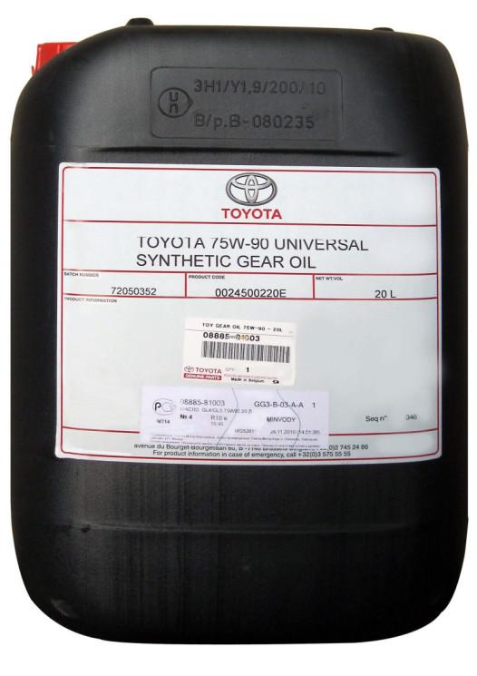 Трансмиссионное масло Toyota Universal Synthetic Gear Oil 75W-90 (20 л.) 08885-81003