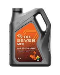 Трансмиссионное масло S-oil SEVEN ATF III (4 л.) E107994