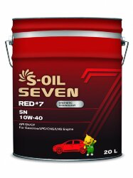 Моторное масло S-Oil Seven RED7 SN 10W-40 (20 л.) E107700