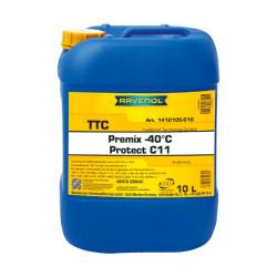 Охлаждающая жидкость Ravenol TTC Protect C11 Premix -40C (10 л.) 1410105010