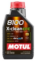 Моторное масло Motul 8100 X-Clean EFE 5W-30 (1 л.) 107210