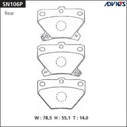 Тормозные колодки Advics SN106P
