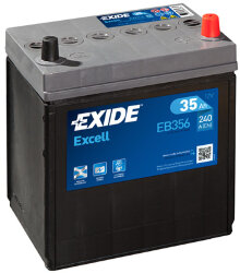 Аккумулятор Exide EB356 35Ah 240A 187x127x220 о.п. (-+) Excell