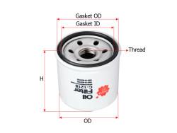 Фильтр масляный Sakura C1218