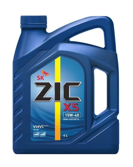 Моторное масло ZIC X5 15W-40 (4 л.) 162647