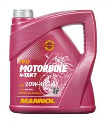Масло четырехтактное Mannol 7812 Motorbike 4-Takt 10W-40 (4 л.) 1963