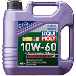 Моторное масло Liqui Moly SynthOil Race Tech GT1 10W-60 (4 л.) 7535