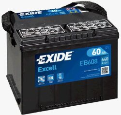 Аккумулятор Exide EB608 60Ah 640A 230x180x186 о.п. (-+) Excell