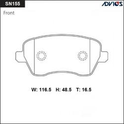 Тормозные колодки Advics SN155