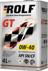 Моторное масло Rolf GT 0W-40 (4 л.) 322307