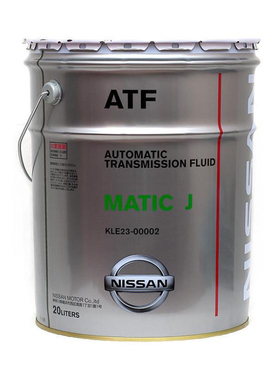 Трансмиссионное масло Nissan ATF Matic-J (20 л.) KLE23-00002