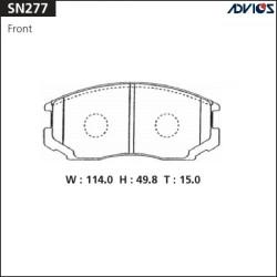 Тормозные колодки Advics SN277
