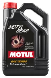 Трансмиссионное масло Motul MotylGear 75W-90 (5 л.) 109057
