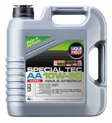 Моторное масло Liqui Moly Special Tec AA Diesel 10W-30 (4 л.) 39027