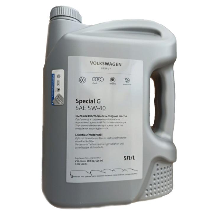 Моторное масло Volkswagen (VAG) Special G 5W-40 (5 л.) GR52502M4