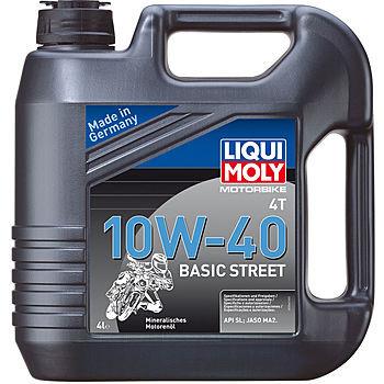 Масло четырехтактное Liqui Moly Motorbike 4T Basic Street 10W-40 (4 л.) 3046