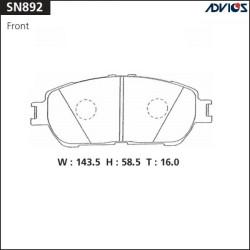 Тормозные колодки Advics SN892