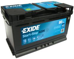 Аккумулятор Exide EK800 80Ah 800A 315x175x190 о.п. (-+) Start-Stop AGM