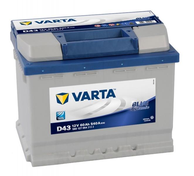 Аккумулятор Varta Blue Dynamic 60Ah 540A 242x175x190 п.п. (+-) 560127054