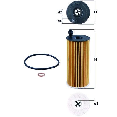 Масляный фильтр Mahle-Knecht OX404DECO