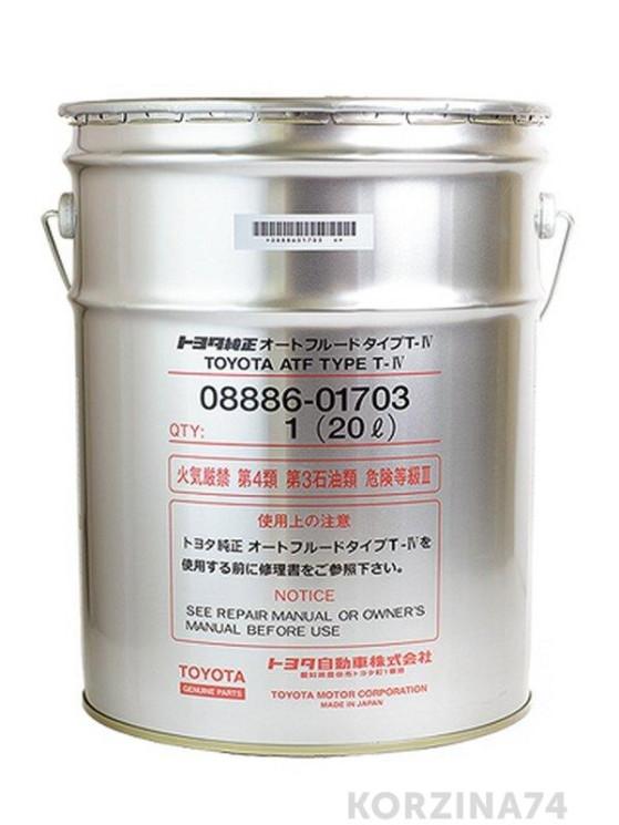 Трансмиссионное масло Toyota ATF Type T-IV (20 л.) 08886-01703