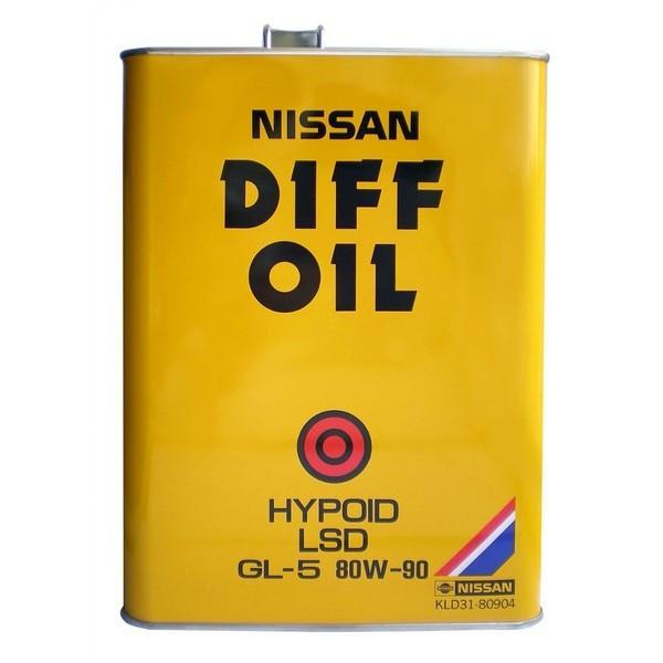 Трансмиссионное масло Nissan Diff Oil 80W-90 GL-5 (4 л.) KLD31-80904-EU
