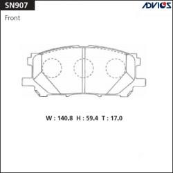 Тормозные колодки Advics SN907