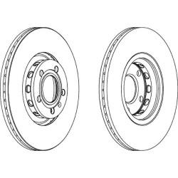 Тормозной диск Ferodo DDF1706