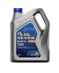 Моторное масло S-Oil Seven BLUE9 CI-4/SL 10W-40 (6 л.) E107849