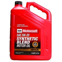 Моторное масло Ford Motorcraft 5W-20 Synthetic Blend (5 л.) XO-5W20-5QSP