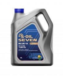Моторное масло S-Oil Seven BLUE9 CI-4/SL 10W-40 (4 л.) E107851