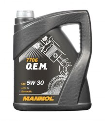 Моторное масло Mannol 7706 O.E.M. 5W-30 (5 л.) 4045
