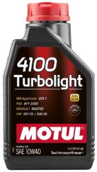 Моторное масло Motul 4100 Turbolight 10W-40 (1 л.) 108644