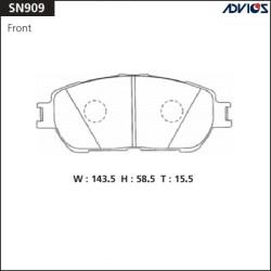 Тормозные колодки Advics SN909