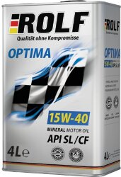 Моторное масло Rolf Optima 15W-40 (4 л.) 322237