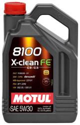 Моторное масло Motul 8100 X-Clean FE 5W-30 (5 л.) 104777