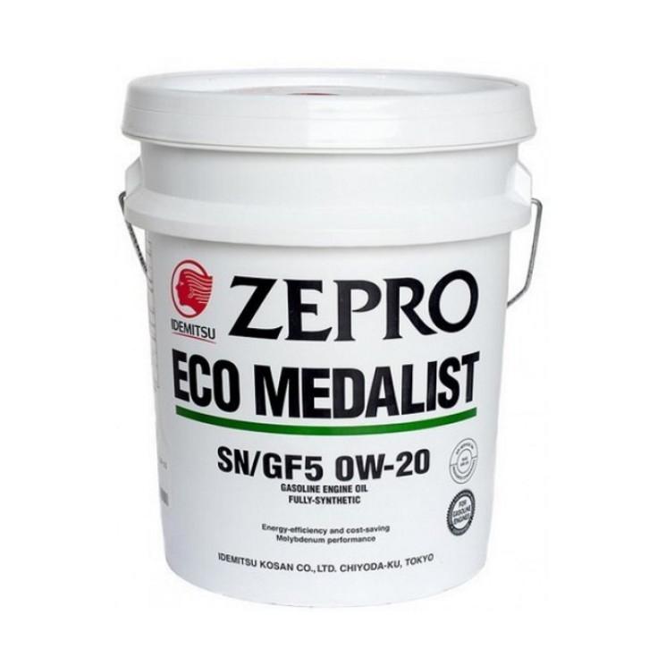Моторное масло Idemitsu Zepro Eco Medalist 0W-20 (20 л.) 3583-020