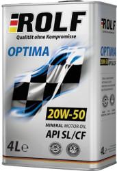 Моторное масло Rolf Optima 20W-50 (4 л.) 322247