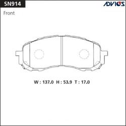 Тормозные колодки Advics SN914